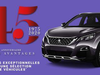 Auto Avantages Anniversaire 45 ans 2020