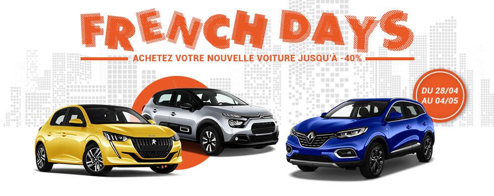 Auto Avantages - French Days : Votre nouvelle voiture jusqu'à -40%