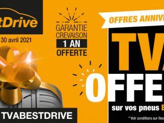 BestDrive - TVA offerte sur vos pneux BestDrive