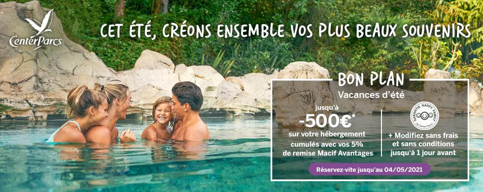 Center Parcs - Bon Plan : Jusqu'à -500€ sur votre cottage