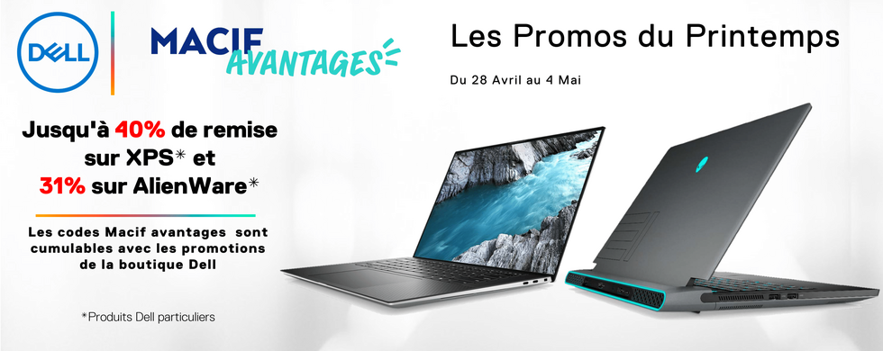 Dell - Les promos du printemps : Jusqu'à -40%