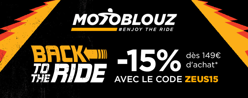 Motoblouz - Back to the ride : -15% dès 149€ d'achat