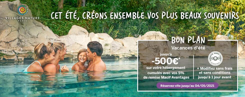 Villages Nature - Bon Plan : Jusqu'à -500€ sur votre cottage